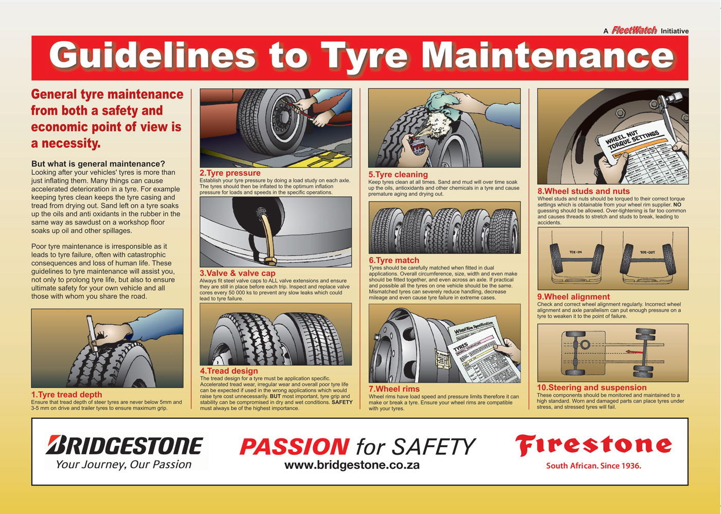 Tyre Maintenance Poster 2016