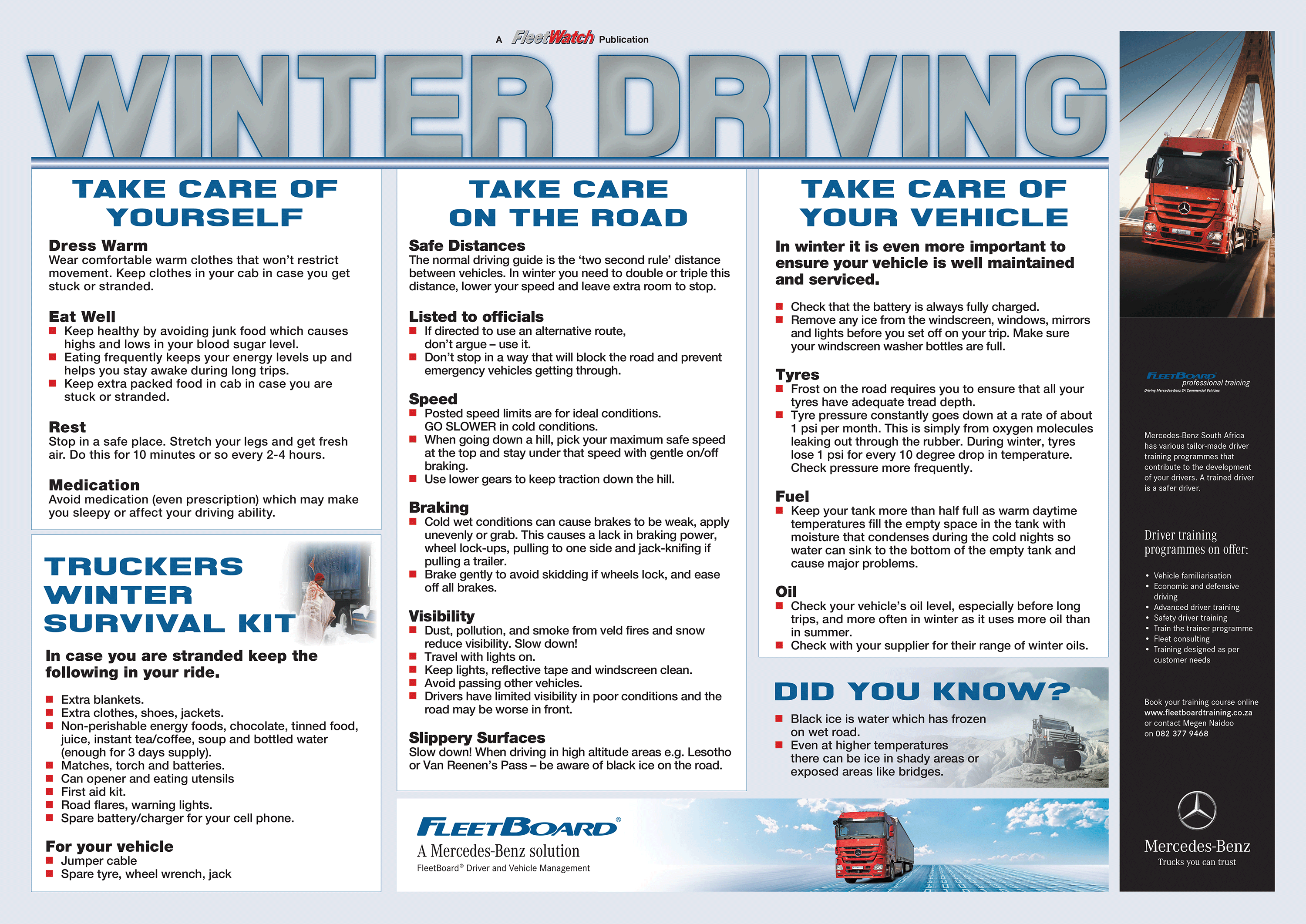 Winter Driving Poster