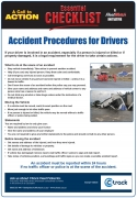 Accident procedure for Drivers - Checklist