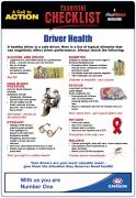 Driver Health – Checklist