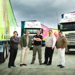Happy chappies from left: Enrico Botha (Commercial vehicle sales manager, Garden City Motors Pietermaritzburg); Frans Henning (MD, Willowton Logistics); Duncan Prince (Product Manager, Freightliner/Fuso division at MBSA); Justin Kent (Operations Director, Willowton Logistics); and Willie De La Rosa (Freightliner Sales Executive, Garden City Motors Pietermaritzburg)