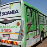 Scania South Africa has an ethanol fueled bus on test in Johannesburg