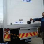 Abdul Sher Ally from Serco operating one of the new roll over doors.