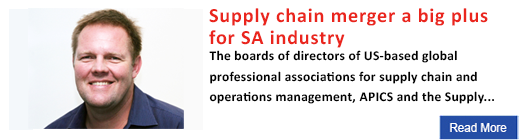 Supply chain merger a big plus for SA industry