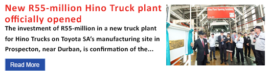 New R55-million Hino Truck plant officially opened