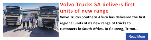 Volvo Trucks SA delivers first units of new range
