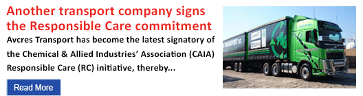 Another transport company signs the Responsible Care commitment