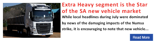 Extra Heavy segment is the Star of the SA new vehicle market