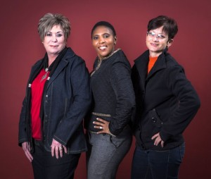 Holding their own in a male dominated sector are, from left: Tersia Van Eerden, Mpumi Nsibande and Jackie Marais. We're here – and we're here to stay. Yeah! Happy Women's Month.