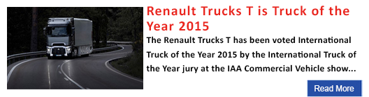 Renault Trucks T is Truck of the Year 2015