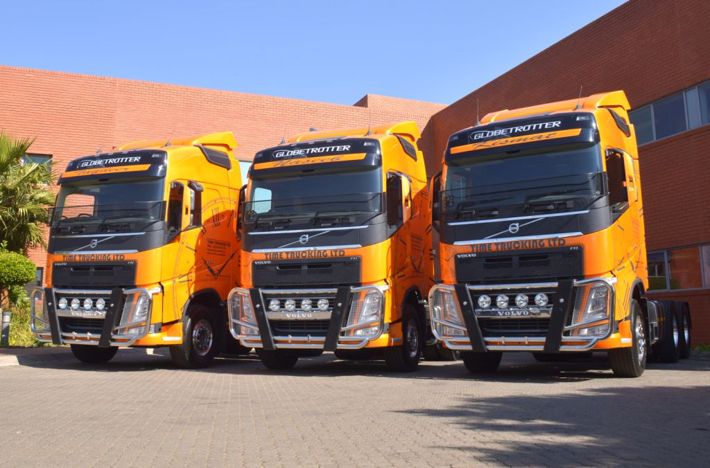 FleetWatch compliments Time Trucking Ltd on the great decor on the three New Volvo FH models. They look really good.