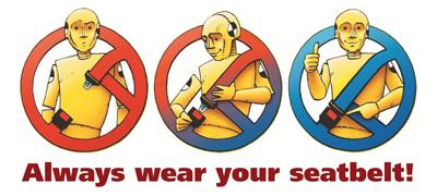 Always wear your seatbelt