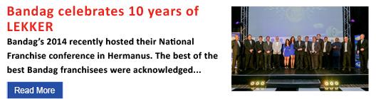 Bandag celebrates 10 years of LEKKER