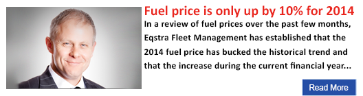 Fuel price is only up by 10% for 2014