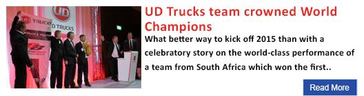 UD Trucks team crowned World Champions