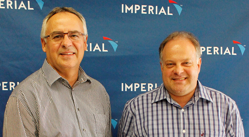 From left to right -Fourie Dawid, Magaging, Director and Johann Schreuder, Business Development Director from Imperial Dedicated contacts.
