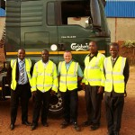 Chris Hill, Hoyer Petrolog UK's senior driver trainer (centre), with students participating in Transaid's new professional driver training programme recently launched in Malawi. Transaid experts will be working alongside Malawi's Directorate of Road Traffic and Safety Services (DRTSS) to tackle the high road traffic fatality rate in the country. It's all the right stuff.