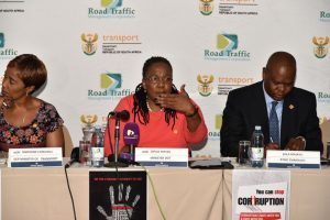 """Minister of Transport Dipuo Peters, flanked on the left by her deputy, Sindisiwe Lydia Chikunga and on the right by RTMC chairman Zola Majavu, made a pertinent comment from her heart at the conference which sort of tells of the tragedy over this past season: """"As we gather here today, there is a mother in a village who is staring blankly at the picture of a daughter or a son she was expecting to come home for Christmas. This was supposed to have been a celebratory reunion, but sadly was not to be. Her hopes had been high until she received the news that her beloved had died in a car crash on their way home. Since that eventful moment, the life of the family has changed for the worst and life will never be the same again. On the other hand, somewhere in a prison cell, a young man is sitting with his head buried in his hands as he contemplates the damage that his reckless, irresponsible and selfish bravado has caused. As his young daughter dons her school uniform for the first time in her life and begins her first day at school, he will be standing in the dock facing a magistrate and pleading for his freedom."""""""