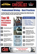 Professional Driving - Best Practices - Checklist