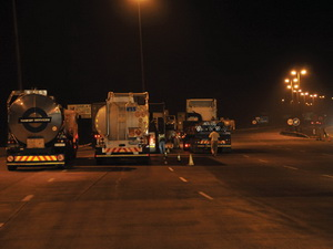 Waves and waves of trucks come into the Tugela plaza, pay their fees and continue their journey , except on that night when the ones with suspect lighting were inspected. The number of trucks out there every night makes perfectly functioning lights a must, not a nice to have.