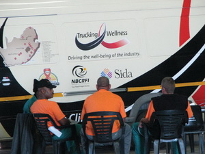 The NBCRFI with its incredible wellness clinic provided drivers with info on HIV&AIDS.