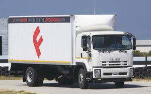 Isuzu's new F-Series comprises a 13-model line-up compared to the previous 9-model F-Series range. This is the FTR 850 which also comes in a tipper guise.