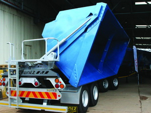 The load bin on the prototype is designed to improve payload and vehicle stability.