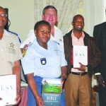 Jan de Bruin, CEO of Highway Ministry handed out Bibles and Study Books to Chief Provincial Inspector JM Mosia, Constable Makaleng, Acting Mayor Clr Moremi and acting Chief Director Mayisele who gave a words of thanks and encouragement to the attendees.