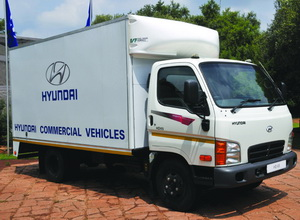 The new Hyundai Mighty HD 65 (top left) and HD 72. The models are being distributed through a network of 26 specialised sales outlets in South Africa and servicing is done by a network of 27 CV accredited Hyundai service centres. Customers are also able to make use of the 18 workshops that FlexiFleet manage.