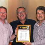 FleetWatch editor Patrick O'Leary (right) presents the certificate highlighting the names of all those who donated money to the cause to Philip Hull (centre) and Barry Niemand of Community Medical Services. Well done to the Call to Action delegates for opening your hearts and your wallets. You are Super Stars.