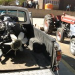 The engine that the school has bought with a portion of the money sponsored.