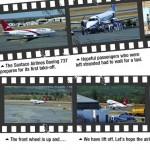 Charging down the runway...