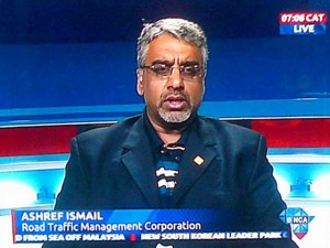 Ashref Ismail, Executive Manager: Enforcement Co-ordination & National Spokesperson Road Traffic Management Corporation.