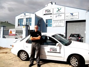 Leon Marshall - happy to move out of his lounge into WearCheck's new offices in Port Elizabeth.