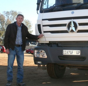 Derick Polson, owner of Polson Vervoer, which has 20 Powerstar trucks in his fleet most of which are either 10m³ tippers or water tankers.