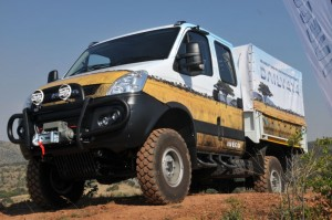 The Iveco Daily 4x4 which is being used to promote the message of road safety through Southern Africa.