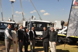 The handover of the 22 Mercedes-Benz Atego 918/42 trucks to the City of Tshwane was a grand affair involving all parties.