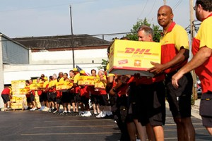 The largest pizza delivery in the world took place during 2013 when DHL, along with Pizzas 4 Patriots, delivered 30 000 deep-dish pizzas from Chicago to US troops serving in Afghanistan. The delivery covered a distance of over 11 000km in 36 hours.