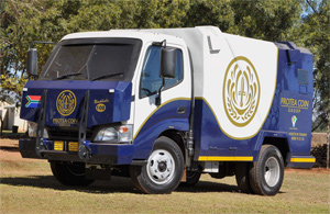 Is this the best cash-in-transit (CIT) van in Africa? Over 1 000 Hino 300 6-11s have been converted for use as armoured CIT vehicles in South Africa.