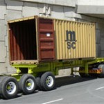 12m retractable with 6m centre mount container.