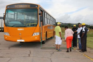 Buses were also included in the competition to raise awareness of road safety in this sector.