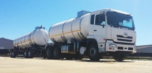 Milk delivered in a unique tanker – another innovation from GRW.