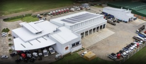 The new Magnis Pretoria East dealership boasts a host of 'green' innovations to ensure environmental sustainability. Note the solar panels on the roof of the building. This is just one of the many features to be incorporated under a sophisticated Energy and Building Management System employed by the company.