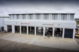 Although only displaying the UD Trucks signage over the work-bays, this facility will also serve as an aftermarket agent for Volvo and Renault Trucks. It's another Three-in-One offering similar to the Rustenburg outlet opened last year.