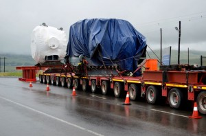 Transporting big loads like this valve from Richard's Bay to the Ingula pumped-storage scheme near Ladysmith provides a host of challenges for Rotek and Roshcon Logistics Services.