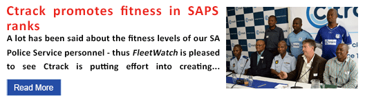 Ctrack promotes fitness in SAPS ranks