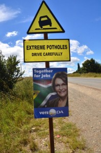 We no longer have potholes in South Africa - we now have 'Extreme Potholes'. Maybe the jobs that every political party leader promised in their pre-election campaigns can be provided by fixing these monstrosities on our provincial roads – which should never have been allowed to deteriorate to the extent they have anyway.