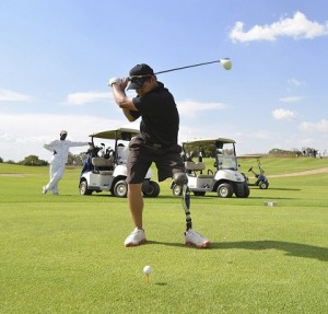 Daniel Slabbert from the South African Disabled Golf Association (SADGA), won the nearest to the pin prize.