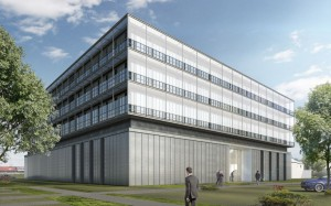 An artist's impression of the exterior of the new Knorr-Bremse test and development centre in Munich.