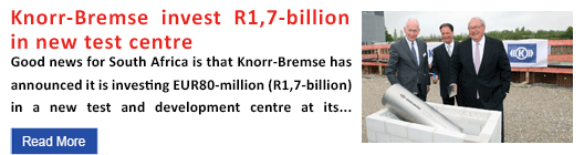 Knorr-Bremse invest R1,7-billion in new test centre